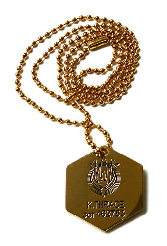 [Battlestar Galactica Starbuck Metal Dog Tag K. Thrace ser 462753 Necklace] (Galactica Costumes)