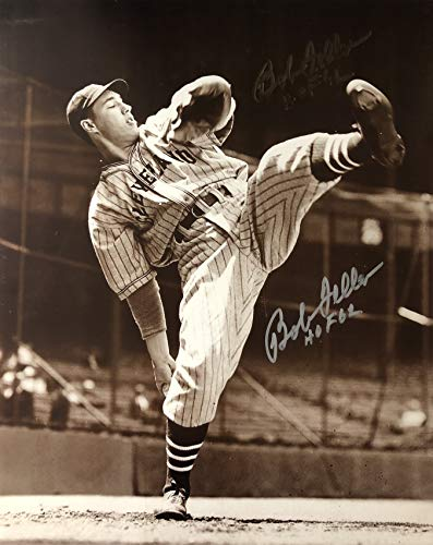 Bob Feller Cleveland Indians 16-3 16x20 Autographed Photo - Certified Authentic
