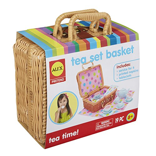 ALEX Toys - Pretend & Play, Tea Set Basket, -