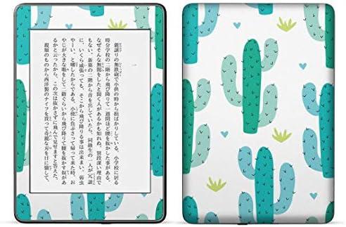 igsticker kindle paperwhite 第4世代 専用スキンシール キンドル ペーパーホワイト タブレット 電子書籍 裏表2枚セット カバー 保護 フィルム ステッカー 016278 サボテン 植物
