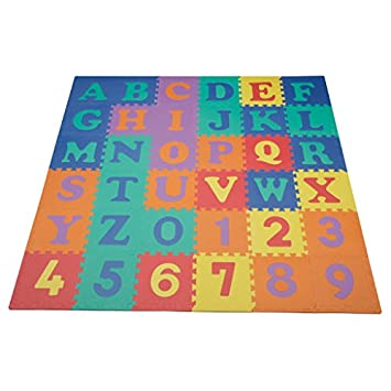 Good We Sell Mats 36 Alphabet And Number Floor Mat, Multi Color