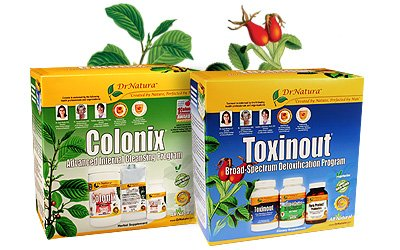 Colonix and Toxinout set. 30 day programs of both