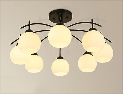 ZHDC® Deckenleuchten, Amerikanischer Stil Einfache Deckenleuchte Führte  Nordic Wohnzimmer Lichter Atmosphäre Modern Kreatives Schlafzimmer
