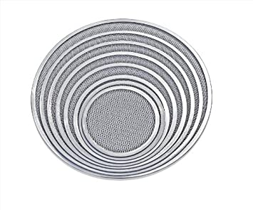 8-Inch New Star Foodservice Inc. Commercial Grade New Star Foodservice 50653 Seamless Aluminum Pizza Screen