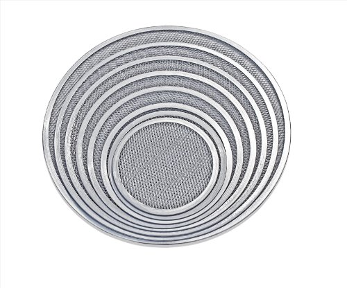 New Star Foodservice 50950 Pizza/Baking Screen, Seamless, Commercial Grade, Aluminum, 12 inch, Pack of 6