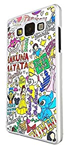 353 - Multi Art Hakuna Matata Ohana Quote Beauty and the beast Stitch Design For Samsung Galaxy A3 Fashion Trend CASE Back COVER Plastic&Thin Metal