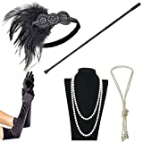 IETANG 1920s Accessories Themed Costume Mardi Gras Party Prop additions to Flapper Dress (Z)