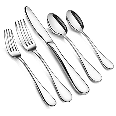 Artaste 56389 Rain 18/10 Stainless Steel Flatware 20-Piece Set, Service for 4