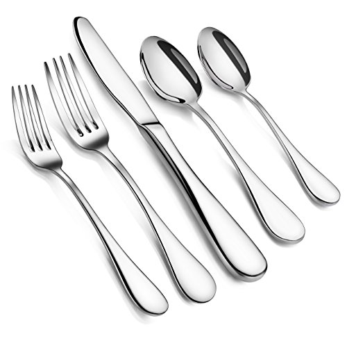 Artaste 56389 Rain 18/10 Stainless Steel Flatware 20 Piece Set, Service for 4, Silver