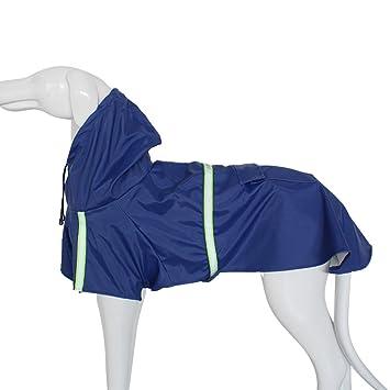 11f4bb9e84be64 KaKa Mall Hund Regenmantel Verstellbare Regenjacke Leicht Atmungsaktiv  Faltbar Reflektierende Streifen Wasserdicht