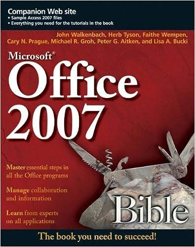 MICROSOFT OFFICE 2007 BIBLE EPUB