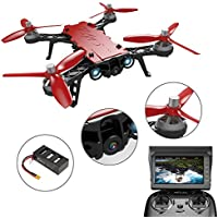 MJX Bugs 8 Pro RC Quadcopter 5.8G 720P Camera Live Video 2.4GHz 6- axis Gyro 4CH 3D Flips Angle/Acro Mode Switch High Speed RC Drone with 2 Batteries