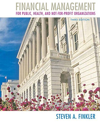 Financial Management for Public, Health, and Not-for-Profit Organizations (3rd Edition)