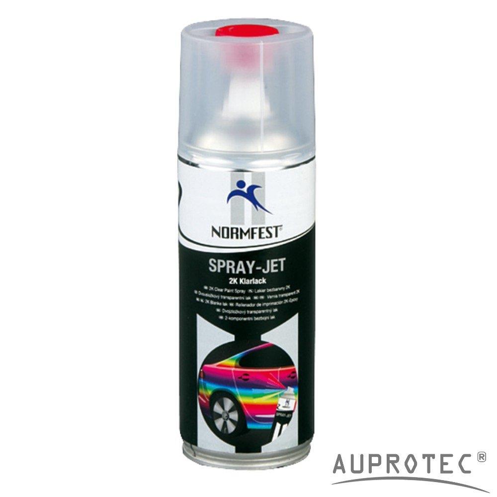 Auprotec Normfest 2K Klarlack Spray Vernis transparent en spray Laque à séchage rapide Scellant haute brillance résistant à l'essence 400ml