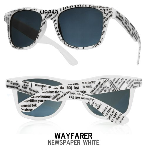 newspaper noir de Lunettes 4sold soleil Taille universelle white Yzxqw