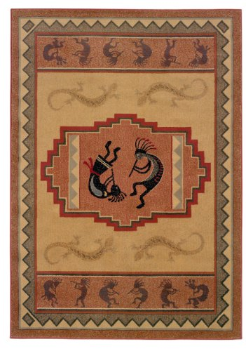 Ancient Icon Natural (United Weavers of America Genesis Collection Ancient Icon Heavyweight Heat Set Olefin Rug, 1-Feet 11-Inch by 7-Feet 4-Inch, Natural)