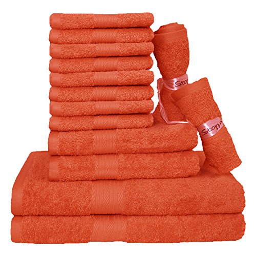 Story@Home Egyptian Ringspun Cotton Towels-14 Pcs Towel Set