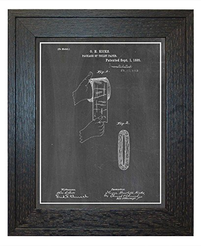 Package Of Toilet-Paper Patent Art Chalkboard Print with a B