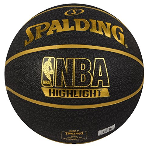 "Spalding Fast S"" Highlight Basketball Size-7 (Black/Gold) Price & Reviews"
