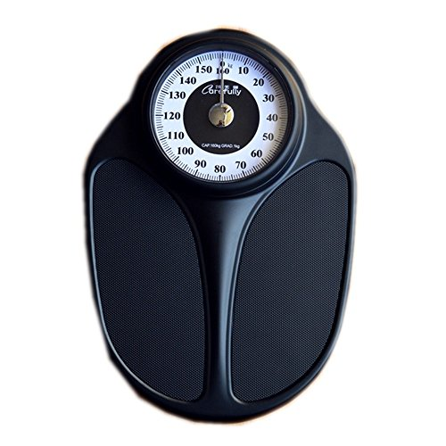JTHKX Household Precise Weight Scales Mechanical Scales Body Scales Pointers Bathroom Scales Electronics Gym Weight Loss Scales,All Black