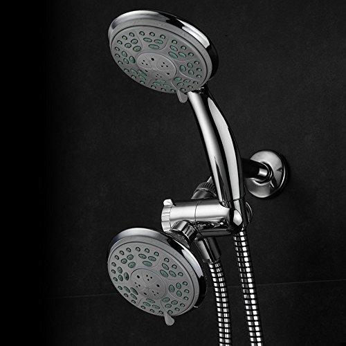 Aquadance by HotelSpa 24-Setting Slimline Showerhead and Hand Shower Combo