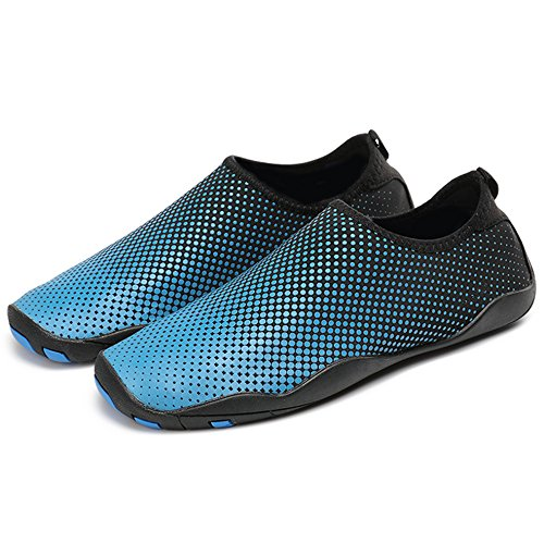 SUNAVY - Escapines de lino para hombre Azul