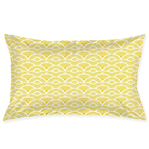 YABABY Pillow Sham,Ethnic Vintage Hand Drawn Style Shaded Oriental Patterns Geometric Lines Motifs,Decorative Standard Queen Size Printed Pillowcase 30 X 20 Inches,Pillow Cushion Cover