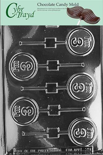 Amazon Cybrtrayd L025 Im 3 Lolly Chocolate Candy Mold With