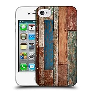 Super Galaxy Coque de Protection TPU Silicone Case pour // V00002001 Textura de madera // Apple iPhone 4 4S 4G
