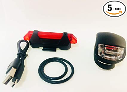 Amazon.com : F&J Luces LED delanteras y traseras para Bicicletas ...