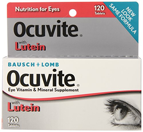 Bausch Lomb Ocuvite Lutein (Bausch & Lomb Ocuvite Vitamin & Mineral Supplement Tablets with Lutein, 120-Count Bottles (Pack of 2))