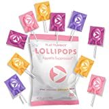 Flat Tummy Appetite Suppressant Lollipops | The Best All Natural Suckers, 4 Great Flavors + Apple, Grape, Watermelon & Berry + Suppress Cravings, The Perfect Low Calorie Diet Candy