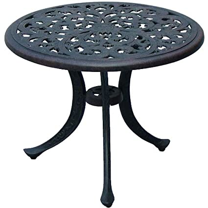 Darlee Series 80 Patio Round End Table In Antique Bronze