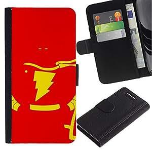 KLONGSHOP // Tirón de la caja Cartera de cuero con ranuras para tarjetas - Flash Superhéroe - Sony Xperia Z3 Compact //