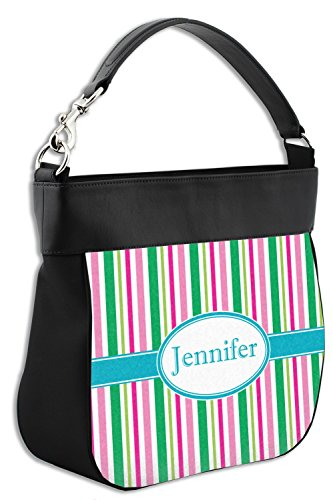 Front Grosgrain w Stripe amp; Purse Back Hobo Trim Personalized Leather Genuine W0dqgr0nO8