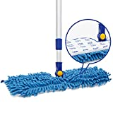 JINCLEAN 18' Microfiber Floor Mop | Dual Side Different Action...