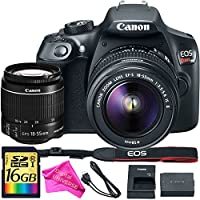 Canon EOS Rebel T6 DSLR Camera Kit w/ EF-S 18-55mm IS II Lens + 16GB High Speed Memory Card + DigitalUniverse Lens Cleaning Cloth