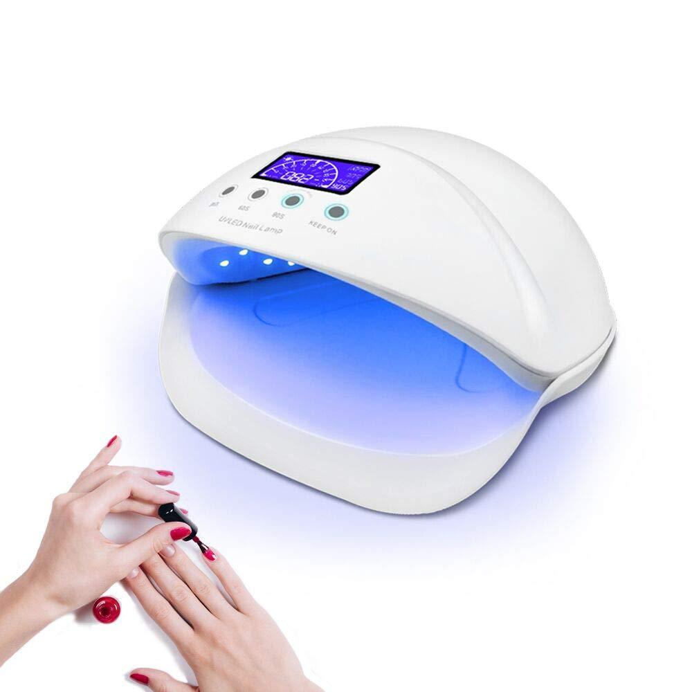 BRIGHTINWD Pocket Size Mini UV Nail Drying Lamp for Curing Gel Nail Polish Art Tips Tool UV Nail Lamp with 2 Timing Setting Ideal for Home and Travel /(Mini nail lamp/)
