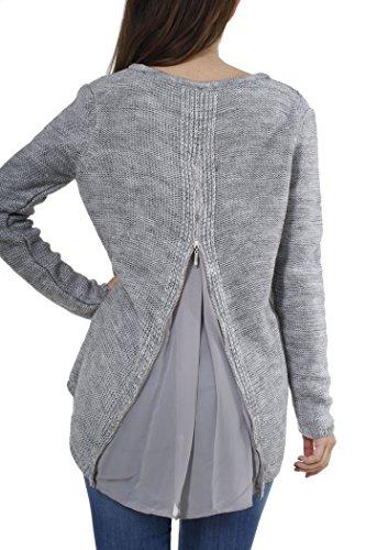 Key Largo - Camisa deportiva - Básico - Manga Larga - para mujer plata