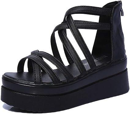 BEOTARU Women Flat Platform Sandals 7CM