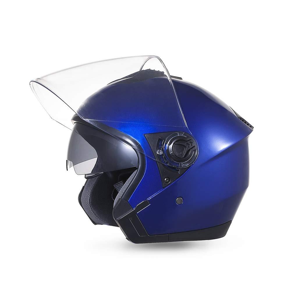 【着後レビューで 送料無料】 ヘルメット バイクヘルメット 青、オートバイハーフヘルメット防曇ダブルレンズセーフティキャップ電気自動車ヘルメット ヘルメット B07NKFF5V2 B07NKFF5V2 青 青, ますのすし本舗源:b9c1aacf --- a0267596.xsph.ru