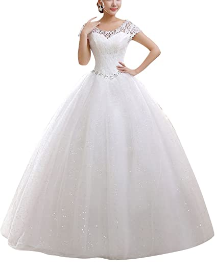 Shifan Vestido Elegante Para Boda Ceremonia De Vuelo Encaje