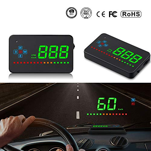 "Qianbao Car Head Up Display Universal HUD 3.5"" Windshield Screen Projector GPS Navigation Compass"