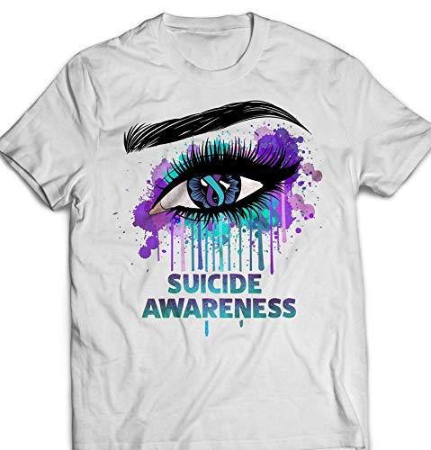 (Suicide Awareness Eye-Splash Watercolor Semicolon Teal-Purple Customized Handmade Hoodie/Sweater/Long Sleeve/Tank Top/Premium T-shirt)
