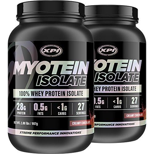 XPI Myotein Isolate (Creamy Milk Chocolate, 2 Pack) 2LBS Each – Whey Protein Isolate – Best Whey Protein Isolate Protein Powder Review