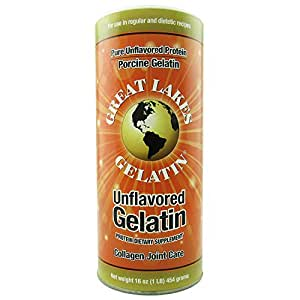 Great Lakes Unflavored Gelatin, Regular, 16 Ounce Can