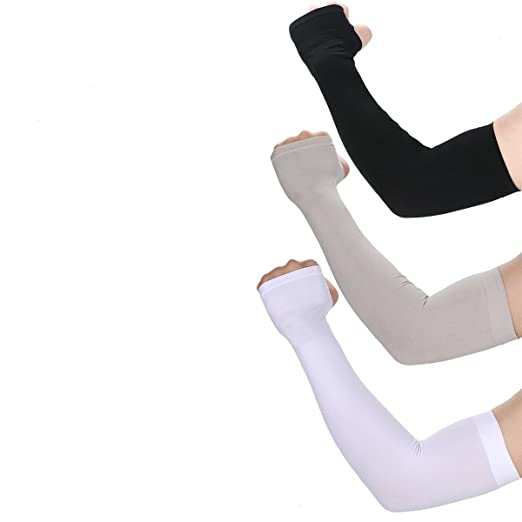 UV Protection Cooling Arm Sleeves- UPF 50 Long Sun Sleeves for Women Men  Ice Silk a722d50ec