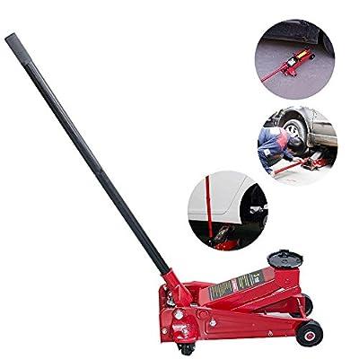 Zinnor 3 Ton Trolley Jack Quick Lift Hydraulic Floor Car Heavy Duty Steel Ultra Low Profile Floor Jack Rapid Pump