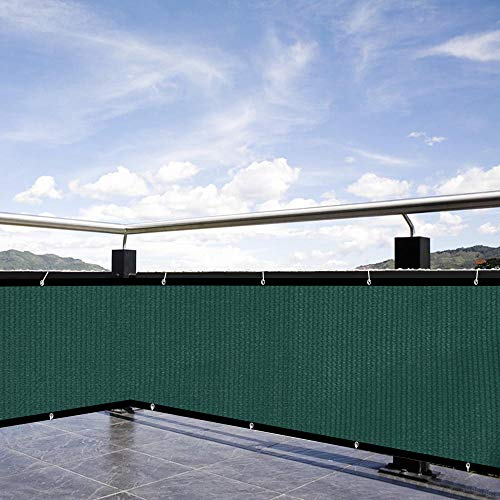 XiaZ Privacy Screen Outdoor, 90% Sunblock Shade Cover for Plant Greenhouse Pets, Balcony Fence Windscreen Mesh, 130 GSM, 5'7