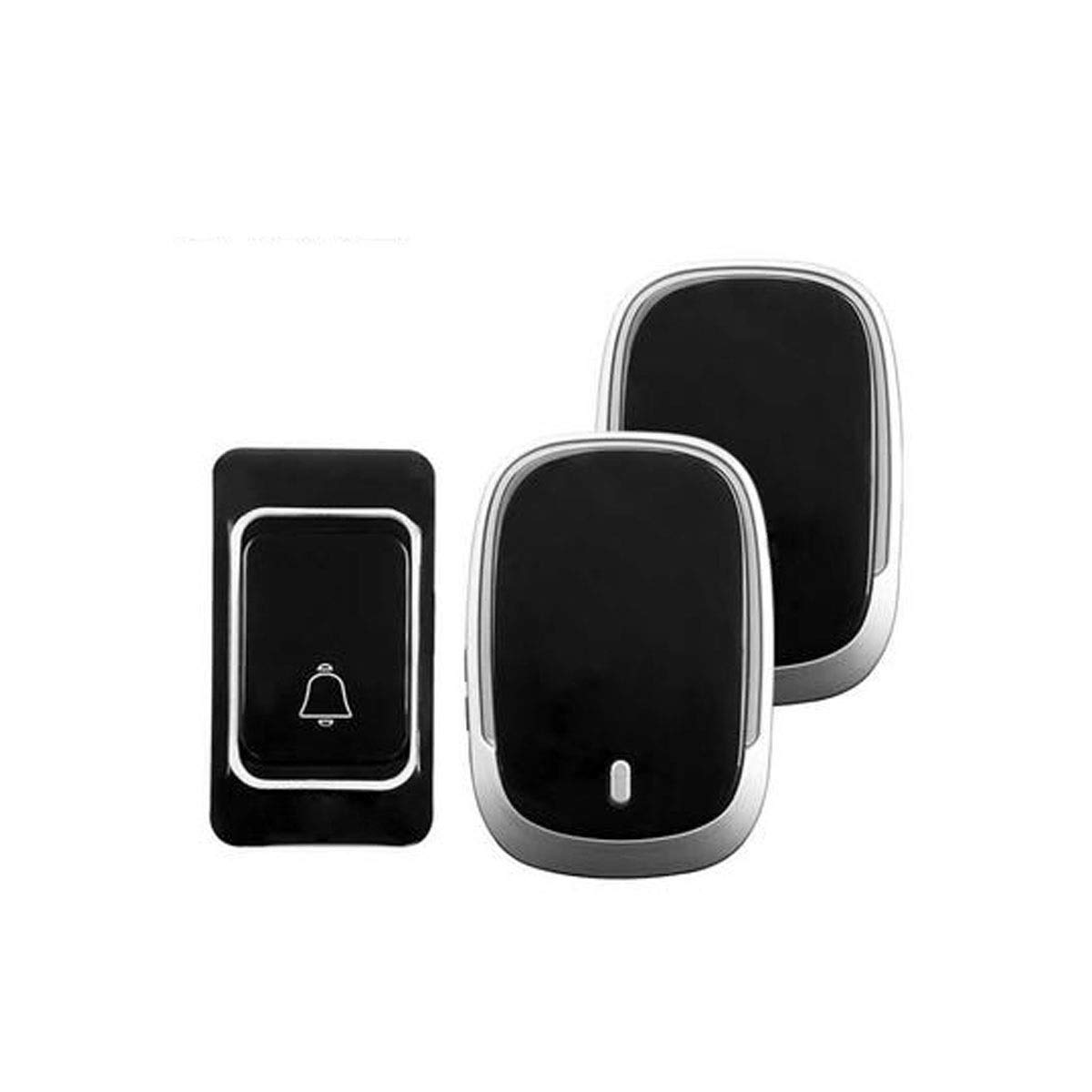 One drag two Doorbell, A Super Long-Range Wireless Doorbell with Light Tips, Multiple Ring Tones (Black) (Edition   One Drag Two)